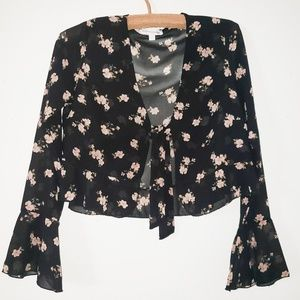 Tops - Crop Floral top one size fits most